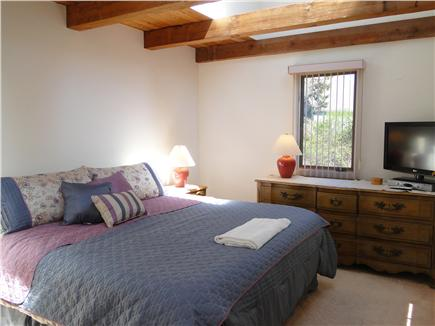 East Orleans Cape Cod vacation rental - Master bedroom with king bed, skylights and flat screen TV