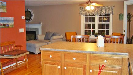 East Falmouth Cape Cod vacation rental - Picture taken from kitchen. Shows a sitting area w/ coffee table