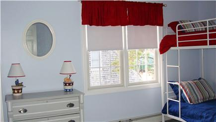 East Falmouth Cape Cod vacation rental - Bedroom 2 - Upstairs Two Sets of Bunk Beds (Window AC Unit)
