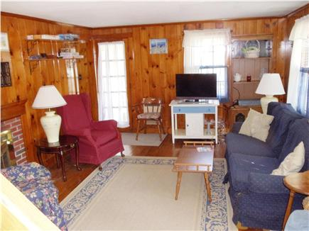 Dennis Port Cape Cod vacation rental - Living room from stairs