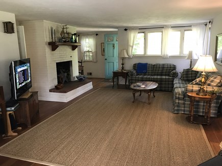 Brewster Cape Cod vacation rental - Spacious and bright living room with new wood floor