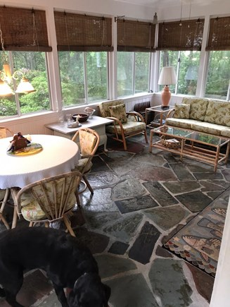 Brewster Cape Cod vacation rental - Large eat-in porch w sliding windows and screens
