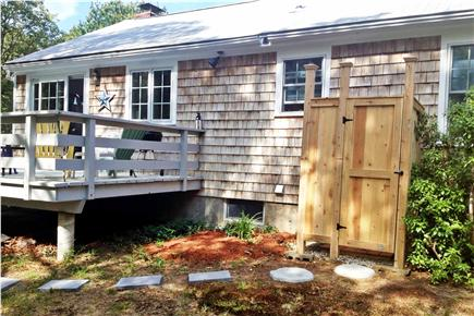 Brewster Cape Cod vacation rental - Deck, private backyard, and outdoor shower