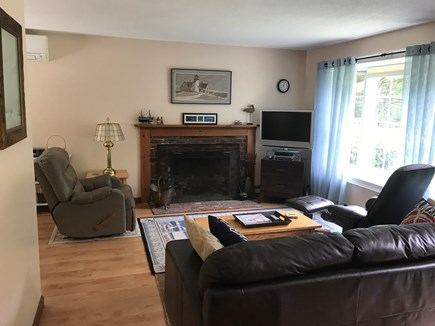 Brewster Cape Cod vacation rental - Alternate view of living room with fireplace