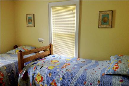 Brewster Cape Cod vacation rental - 2nd bedroom (2 twins and a trundle bed)
