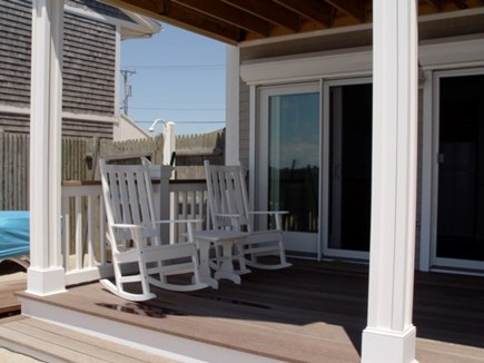 Truro Cape Cod vacation rental - Private deck with rockers and gas grill