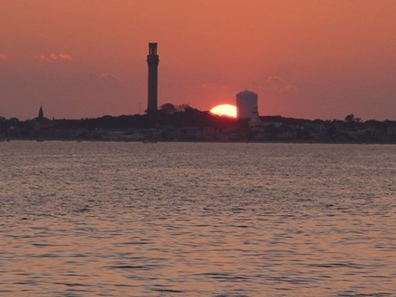 Truro Cape Cod vacation rental - Sunset from our Beach