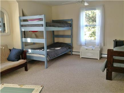 Sandwich Cape Cod vacation rental - Upstairs large kids bedroom 2  - Bunk, single, double futon beds