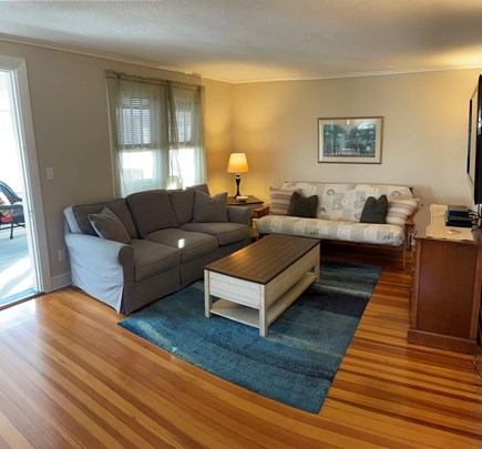 Hyannis Cape Cod vacation rental - Other half of the living room with a big screen tv