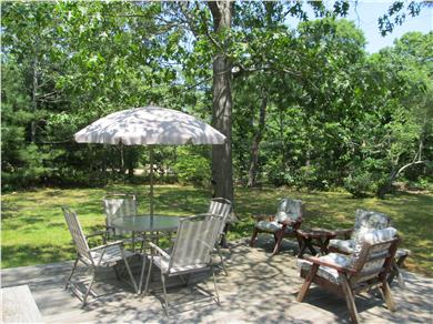 Eastham Cape Cod vacation rental - Relax on our back yard deck!