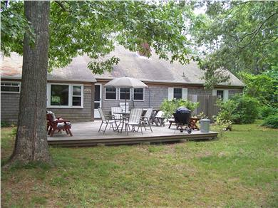 Eastham Cape Cod vacation rental - Our peaceful, private back yard.