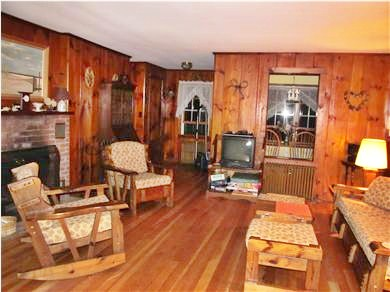 Eastham Cape Cod vacation rental - Our large knotty-pine living room!