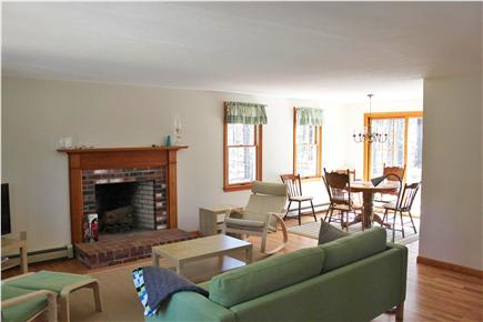 Wellfleet Cape Cod vacation rental - Open living and dining area from front door