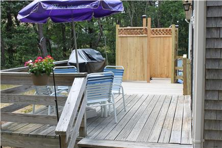 Wellfleet Cape Cod vacation rental - Expanded Back Deck and new Outdoor Shower