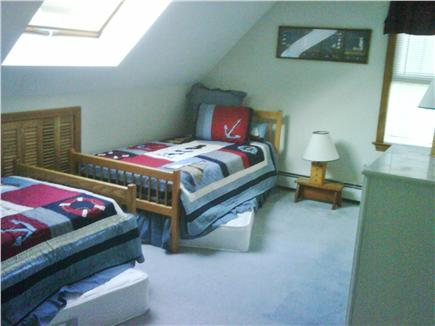 Mashpee Cape Cod vacation rental - Bedroom #2 with 2 twin beds, 2 trundle beds and skylight