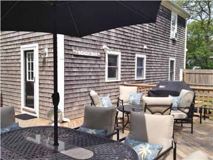 Mashpee Cape Cod vacation rental - New deck and furniture, with outdoor shower