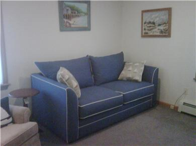 Mashpee Cape Cod vacation rental - Den with flat screen TV and full pullout couch - cable with DVR