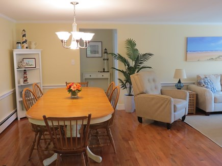 Falmouth, Sippewissett Cape Cod vacation rental - Open dining area with a table that expands to seat six