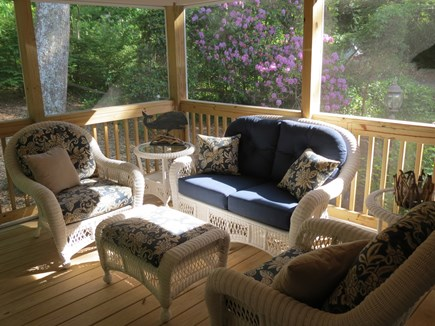 Falmouth, Sippewissett Cape Cod vacation rental - Relaxing screened-in porch
