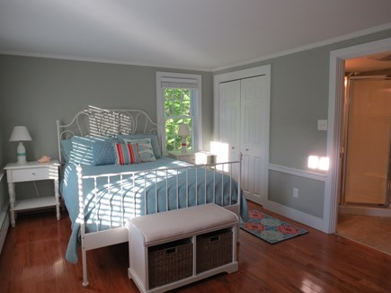 Falmouth, Sippewissett Cape Cod vacation rental - Master bedroom with queen bed and small bath