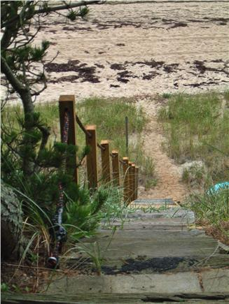 North Truro Cape Cod vacation rental - Stairs to private beach