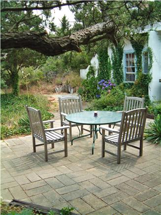 North Truro Cape Cod vacation rental - Garden area seating