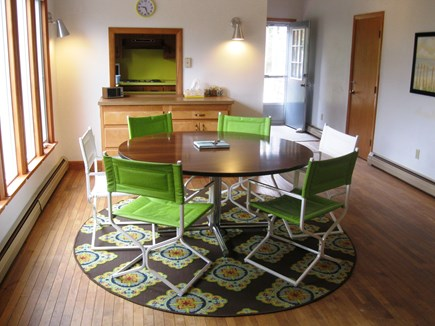 East Sandwich Cape Cod vacation rental - Dining area and main entrances.