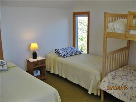 East Sandwich Cape Cod vacation rental - Yellow  bedroom, 2 twins and twin bunk.