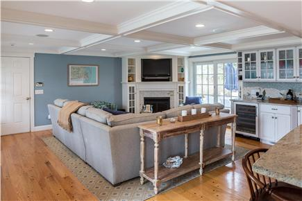 Chatham Cape Cod vacation rental - Living room with sliders to the patio