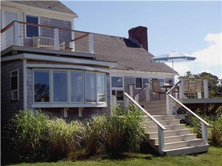 Yarmouthport Cape Cod vacation rental - There are three levels of decks with stainless steel cable rails