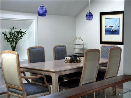Yarmouthport Cape Cod vacation rental - The dining room is simple and elegant.