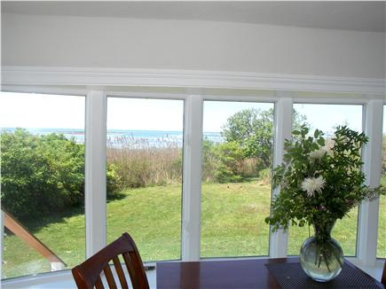 Yarmouthport Cape Cod vacation rental - The water comes in quite close at high tide.