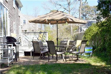 Harwich Cape Cod vacation rental - Deck and Patio Area with Gas Grill & Outdoor Shower