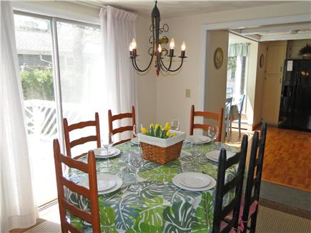 Harwich Cape Cod vacation rental - Sunny dining area with slider to back deck