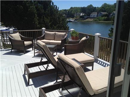 New Seabury New Seabury vacation rental - Large deck  for lounging & dining - just steps to the dock!