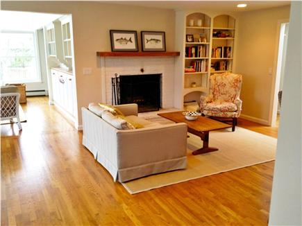 New Seabury New Seabury vacation rental - Comfortable living room with a wood-burning fireplace