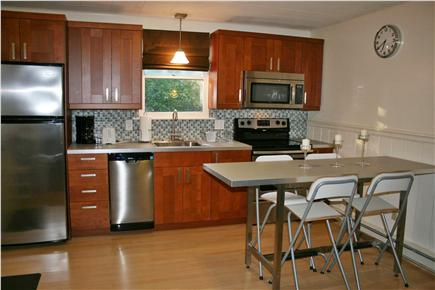 Brewster Cape Cod vacation rental - Newly remodeled kitchen with seating for four.