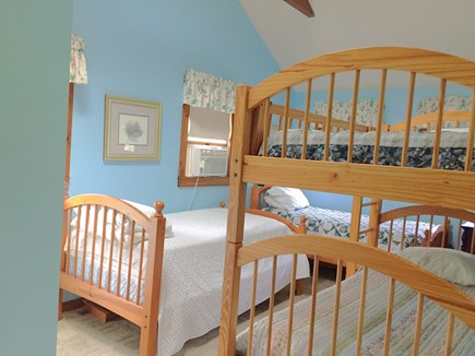 Brewster Cape Cod vacation rental - 3rd bedroom with 4 twins
