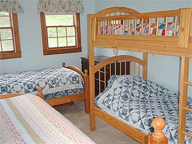 Brewster Cape Cod vacation rental - Bedroom 2 wtih 4 twins