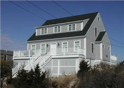 Sandwich Cape Cod vacation rental - Stunning presence from the roadside, set high on the dunes.
