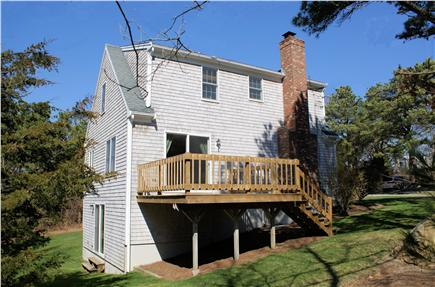 East Sandwich Cape Cod vacation rental - Back of house with deck off the Dining Room.