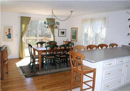 East Sandwich Cape Cod vacation rental - Dining Room opens to back deck, witextra seating at Kitchen bar.