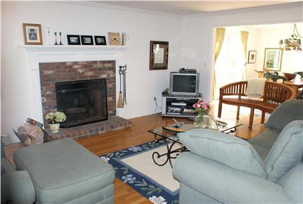 East Sandwich Cape Cod vacation rental - Spacisous and comfortable Living Room with fireplace