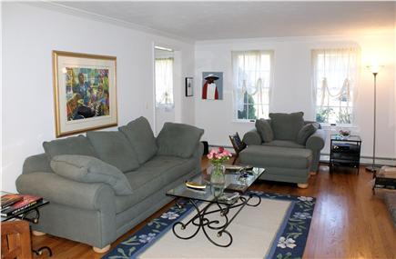 East Sandwich Cape Cod vacation rental - Hardwood floors lend a warmth to the Living & Dining areas.
