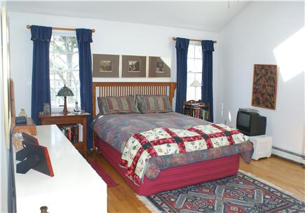 East Sandwich Cape Cod vacation rental - Master Bedroom features cathedral ceilings and private Bath.