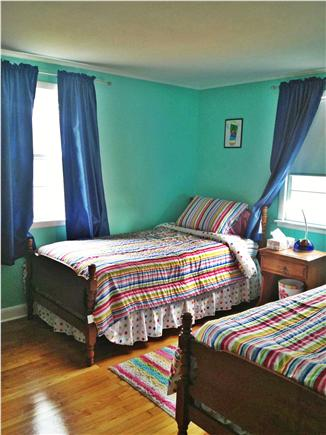 South Yarmouth Cape Cod vacation rental - Second bedroom, two twins, closet and bureau