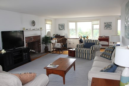 West Falmouth Cape Cod vacation rental - Living Room with new flat screen tv cable & wireless internet