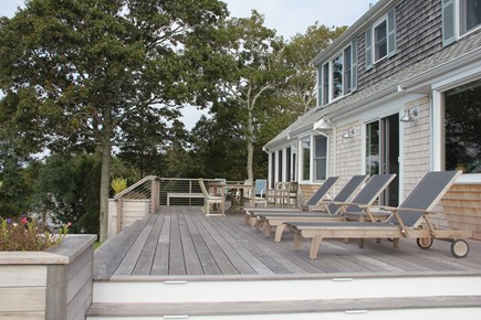 West Falmouth Cape Cod vacation rental - Deck with Weber grill around the corner on the side deck
