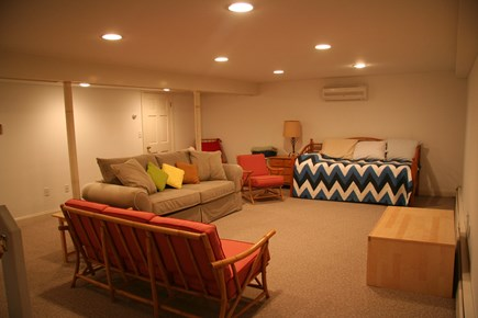West Falmouth Cape Cod vacation rental - Finished Basement area with trundle bed and pull out couch