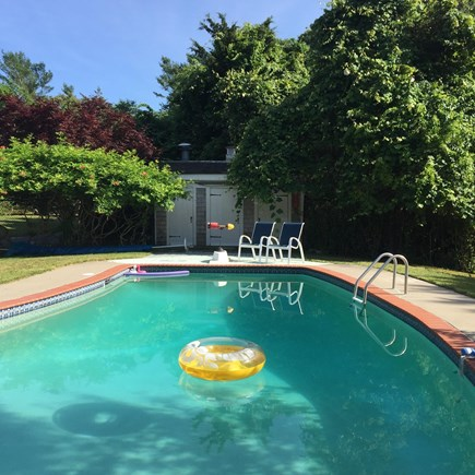 Dennis Cape Cod vacation rental - Pool in between Cottage and Main house. Use is shared.